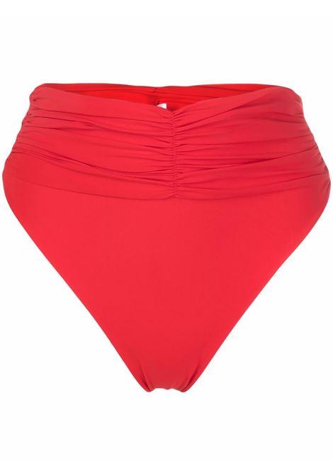 Red ruched high-waisted bikini bottoms - women MAGDA BUTRYM | 812721RD
