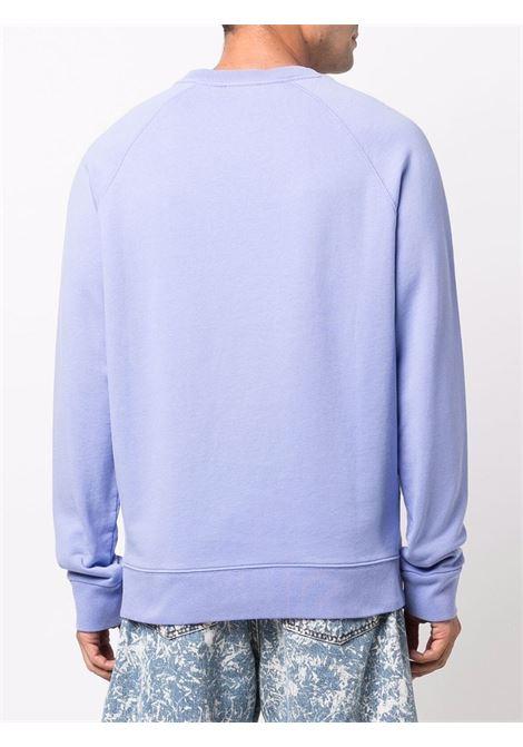 Logo crew-neck sweatshirt in blue - men MAISON KITSUNÉ | HM00306KM0001P426