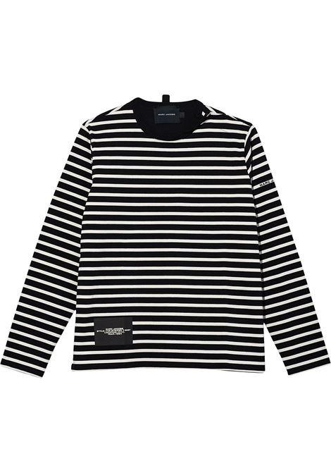 T-shirt a maniche lunghe modello a righe nero e bianco- donna MARC JACOBS X PEANUTS | C611C04PF21002