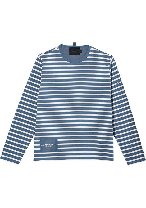 T-shirt a maniche lunghe modello a righe bianco e blu- donna MARC JACOBS X PEANUTS | C611C04PF21482