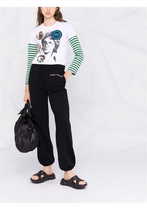 The Sweatpants logo-print track trousers in black - women MARC JACOBS | C412C05PF21001