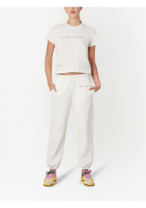 The Sweatpants logo-print track trousers in white - women MARC JACOBS | C412C05PF21177