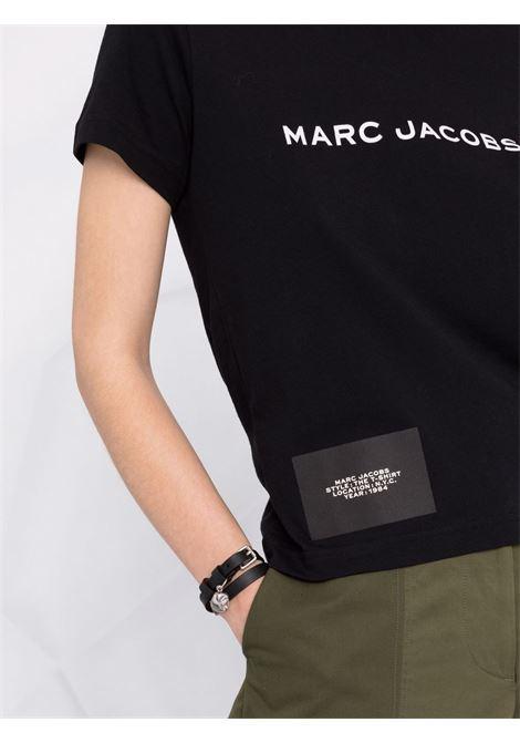 T-shirt a maniche corte con logo in nero - donna MARC JACOBS | C631C07PF21001