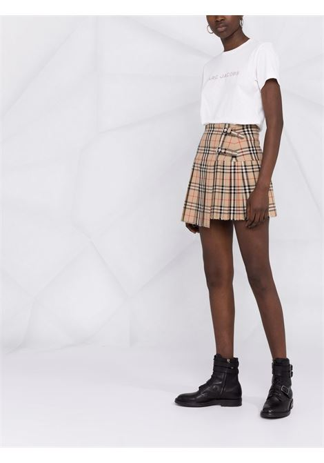T-shirt a maniche corte con logo in bianco - donna MARC JACOBS | C631C07PF21177