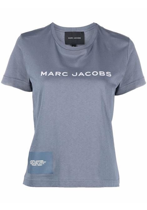 T-shirt a maniche corte con logo in blu - donna MARC JACOBS | C631C07PF21481