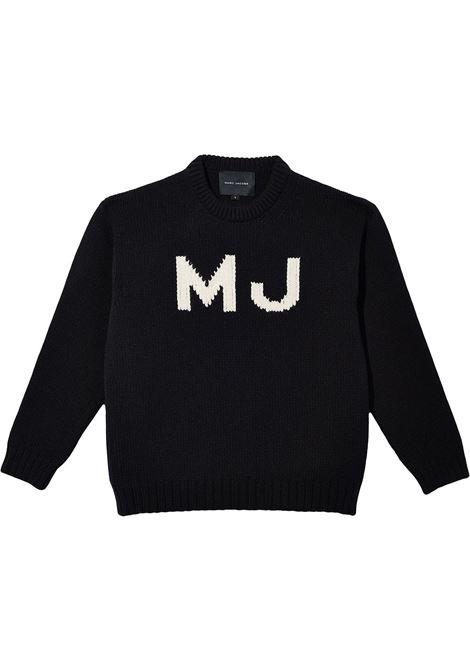 The Big Sweater intarsia logo jumper in black - women  MARC JACOBS | N617W02FA21001