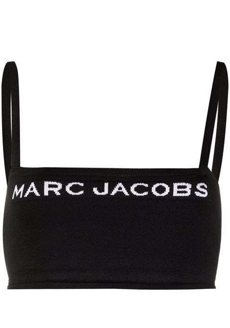 The Bandeau intarsia-knit top in black and white - women  MARC JACOBS | N630M01PF21001