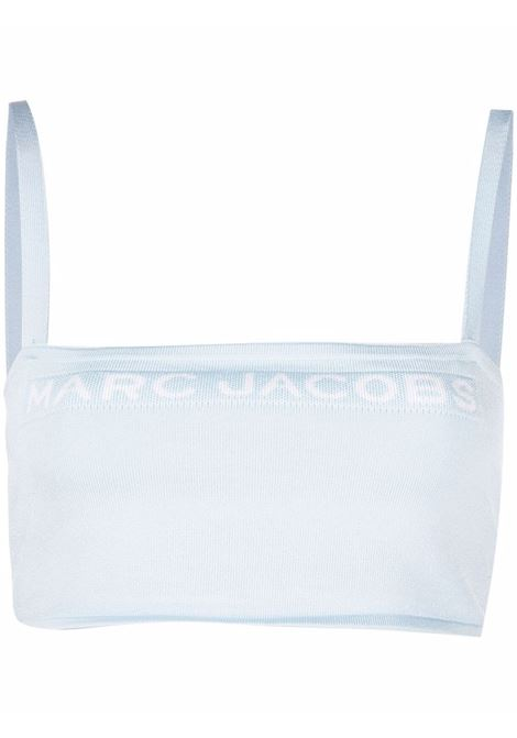 Stretch-fit cropped top blue shadow - women MARC JACOBS | Top | N630M01PF21481