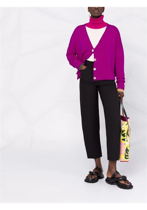 Cardigan con scollo a V in rosa - donna MARNI | CDMD0244Q0UFH52900C57