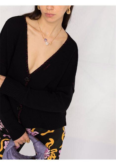 Cardigan con scollo a V in nero - donna MARNI | CDMD0244Q0UFH52900N99