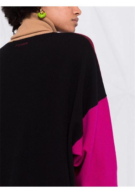 Multicolored colour-block knitted dress - women MARNI | DVMD0122Q0UFZ369V3X99