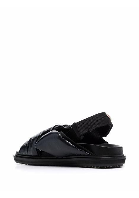 Fussbett criss-cross sandals in black - men  MARNI | FBMS013101P434500N99