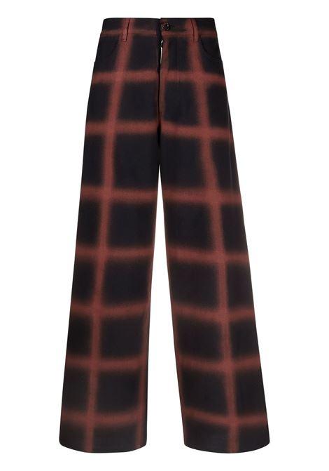 Pantaloni a quadri in blu e grigio - donna MARNI | PAMA0264U6USCR90SCM38