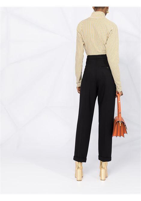High waist trousers with pleat design black- women MARNI | PAMA0273U0UTW90800N99