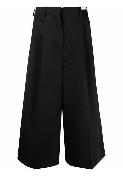 High-waisted cropped trousers in black - women  MARNI | PAMA0288U0UTW92600N99
