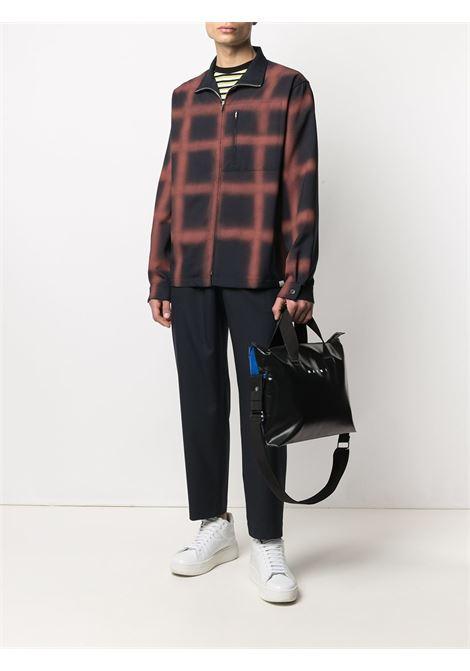 Elasticated waist drop-crotch trousers navy blue - men MARNI | PUMU0017A0TW83900B99