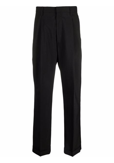 Jet-black straight-leg tailored trousers - men MARNI | PUMU0091A0TW83900N99