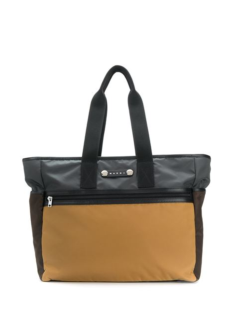Hackney colour-block tote bag men  MARNI | SHMQ0016U0TN685Z2H97
