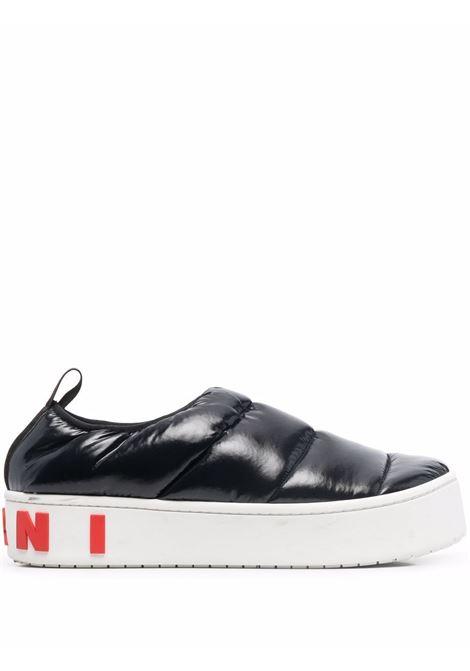 Black padded slip-on sneakers - men MARNI | SNZU010203P434500N99