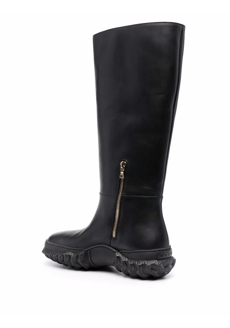 Knee length boots with round toe black- women MARNI | STMS006704P376200N99