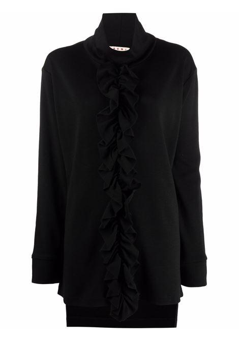 Black high neck knitted jumper - women  MARNI | THJE0240DYUTW92700N99