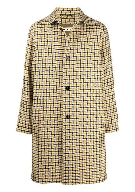Beige check-pattern single-breasted coat - men MARNI | TUMU0049U0UTW915CHW11