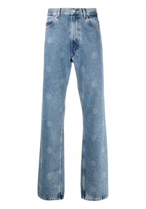Jeans con stampa in blu - uomo MARTINE ROSE | M229DUMR063