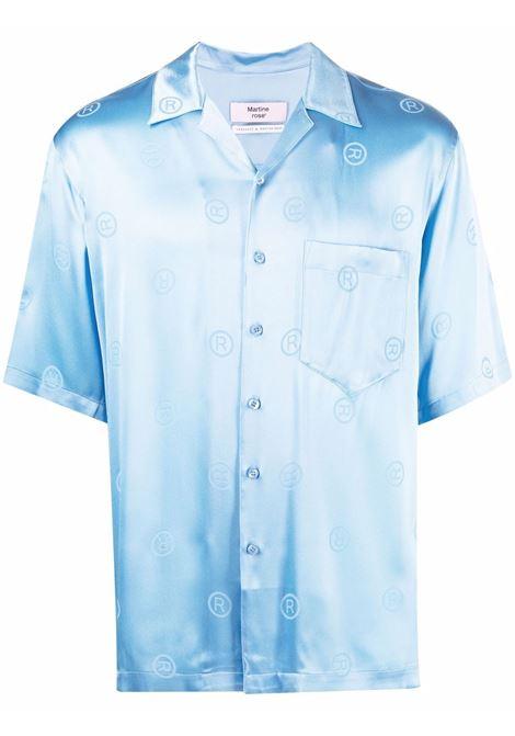 Camicia a maniche corte in azzurro - uomo MARTINE ROSE | M421HRMR061