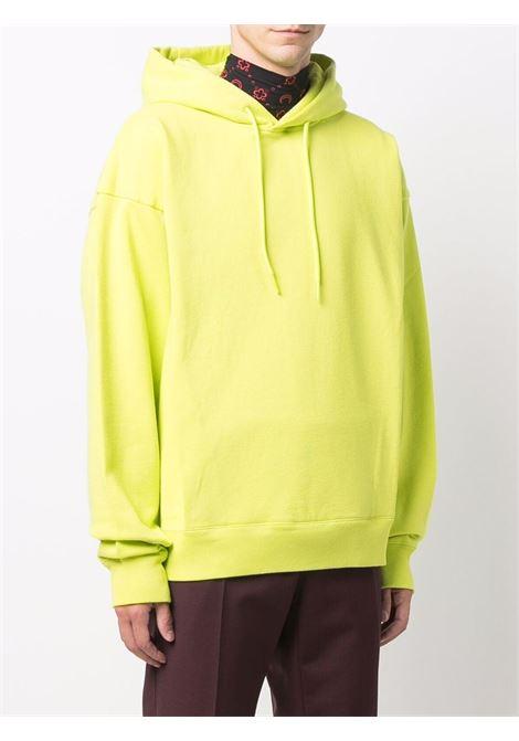 Felpa con logo e cappuccio con coulisse in giallo - uomo MARTINE ROSE | M602FCMR055