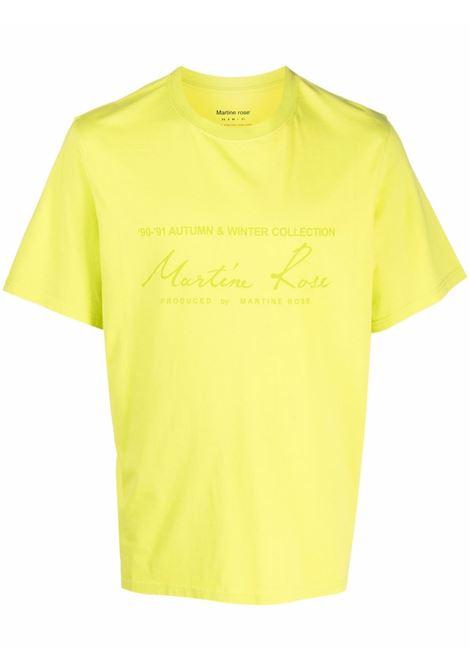 T-shirt a girocollo con logo in giallo - uomo MARTINE ROSE | M603JCMR055