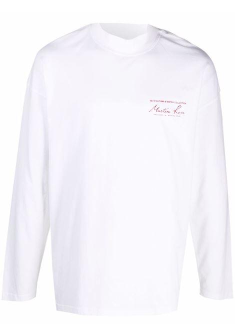 Felpa con logo a contrasto in bianco - uomo MARTINE ROSE | M605JCMR001