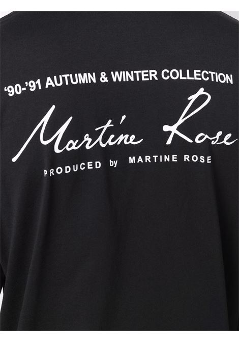 Felpa con logo a contrasto in nero - uomo MARTINE ROSE | M605JCMR009