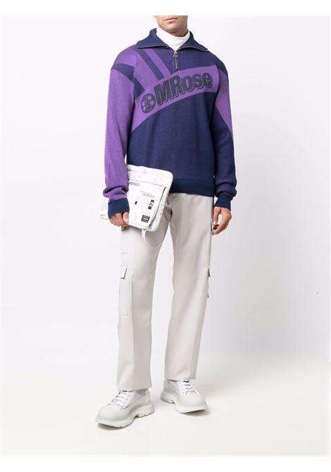 Maglione con logo in viola e lilla - uomo MARTINE ROSE | M925KWMR066