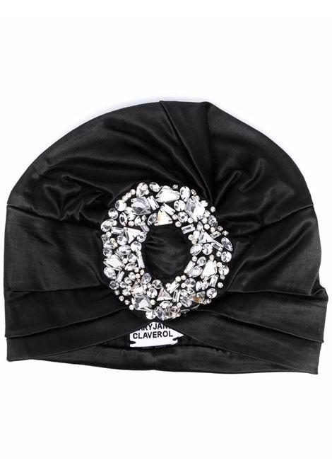Turbante bengala con cristalli in nero - donna MARYJANE CLAVEROL | 0140021009BLK
