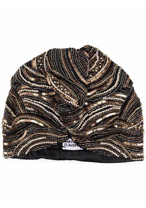 Turbante cairo con paillettes - donna MARYJANE CLAVEROL | 0190021010BLK