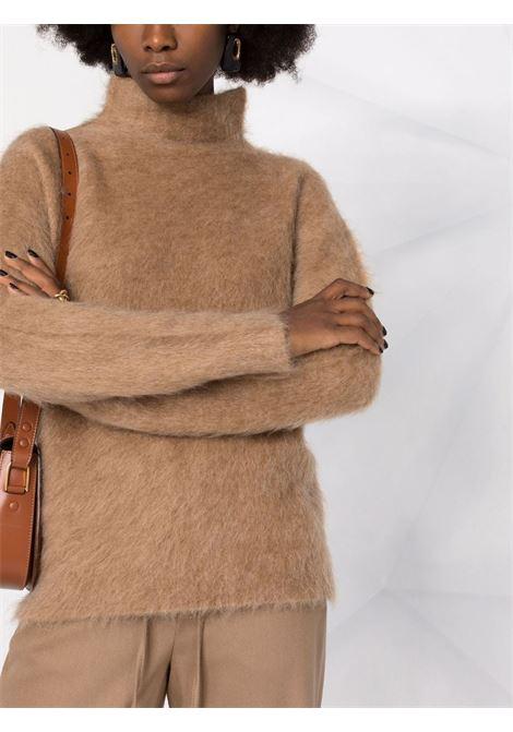 Camel-brown alca roll-neck jumper - women  MAXMARA SPORTMAX | 13662716600002