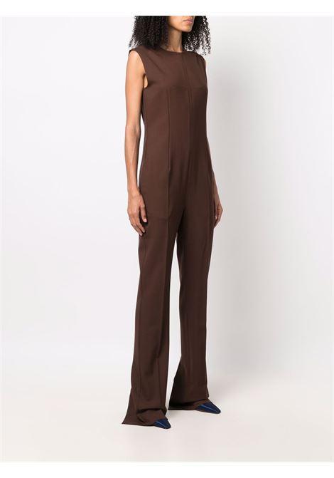 Brown ely sleeveless jumpsuit - women  MAXMARA SPORTMAX | 22460116600004