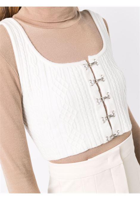 White cropped dardano top - women  MAXMARA SPORTMAX | 23560216600001