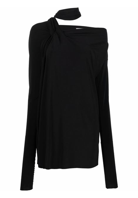 Black carezza top with foulard detail - women  MAXMARA SPORTMAX | 29460519600003