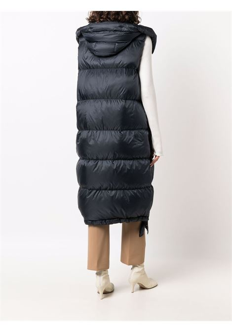 Navy blue seigil quilted down vest - women  MAXMARA THE CUBE | 92960216600008