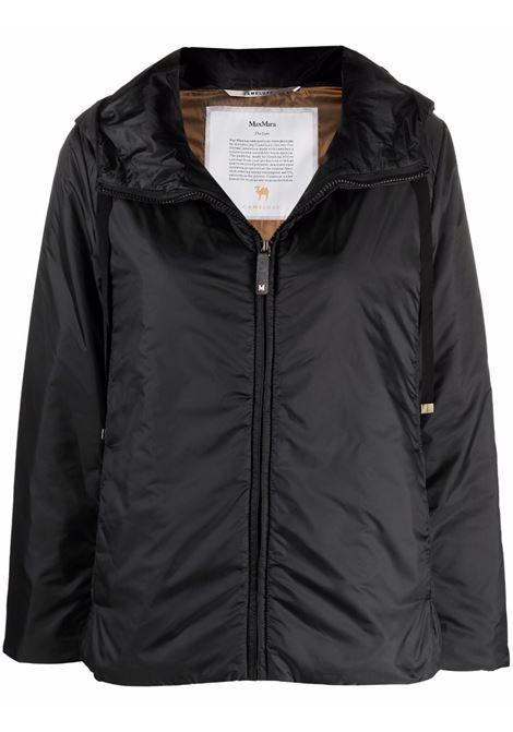 Black greenh hooded padded jacket - women  MAXMARA THE CUBE | 94860214600009