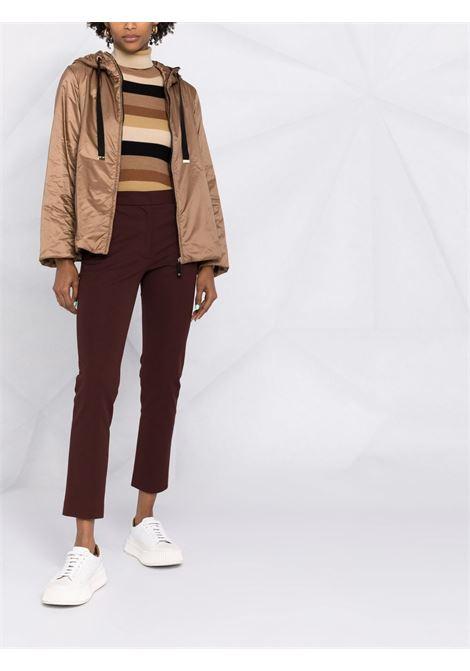 Brown greenh hooded padded jacket - women  MAXMARA THE CUBE | 94860214600051