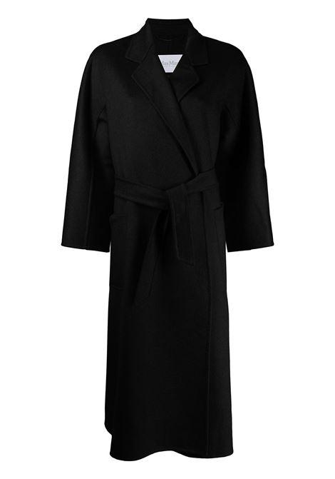 Labbro coat with belt in black - women  MAXMARA | Outerwear | 10160919600004