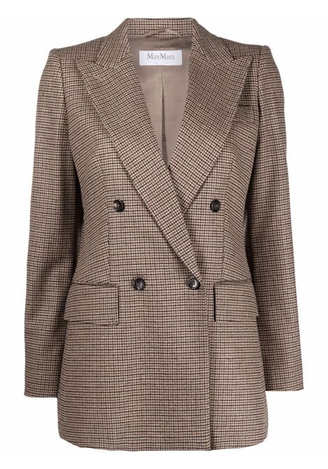 Ricamo blazer in brown -women  MAXMARA | 10460916600005