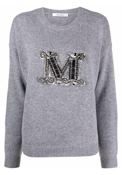 Rodeo jumper with logo grey - women  MAXMARA | Sweaters | 13661819600012