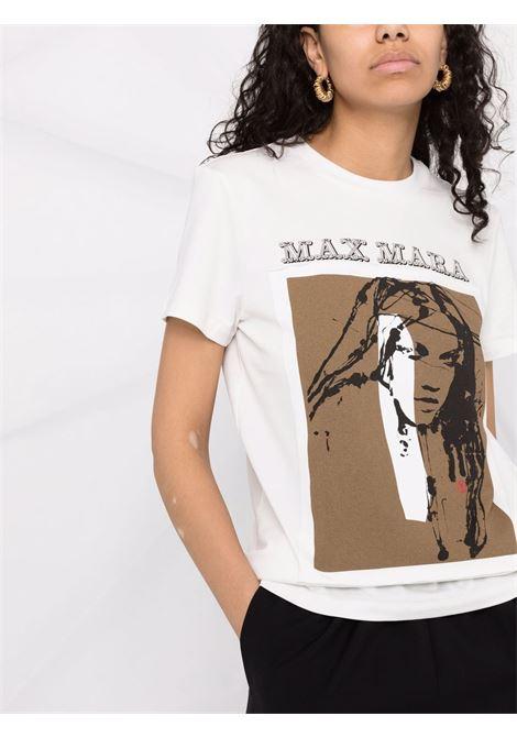 T-shirt divina a girocollo in avorio - donna MAXMARA | 19461019600005