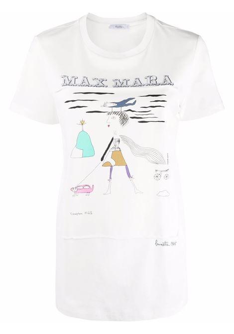 T-shirt bambina a girocollo in avorio - donna MAXMARA | 19461119600005