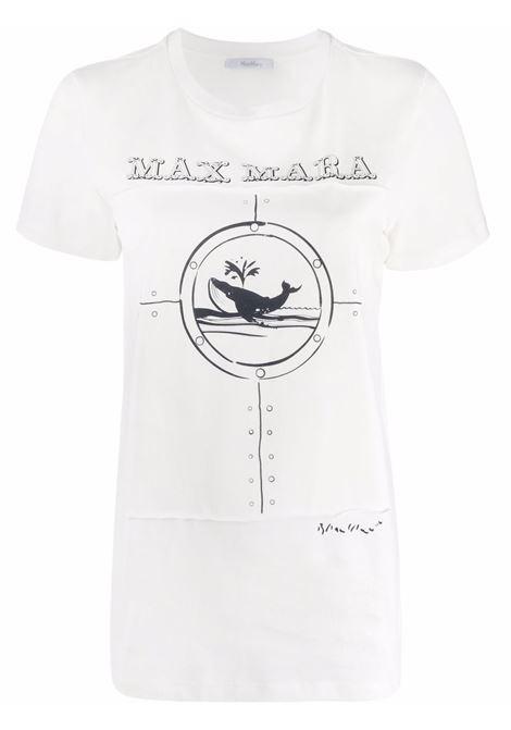 T-shirt oblo a girocollo in avorio - donna MAXMARA | 19461419600005