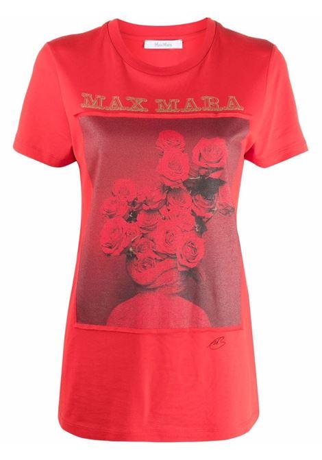 T-shirt rosso a girocollo in rosso - donna MAXMARA | 19461519600009