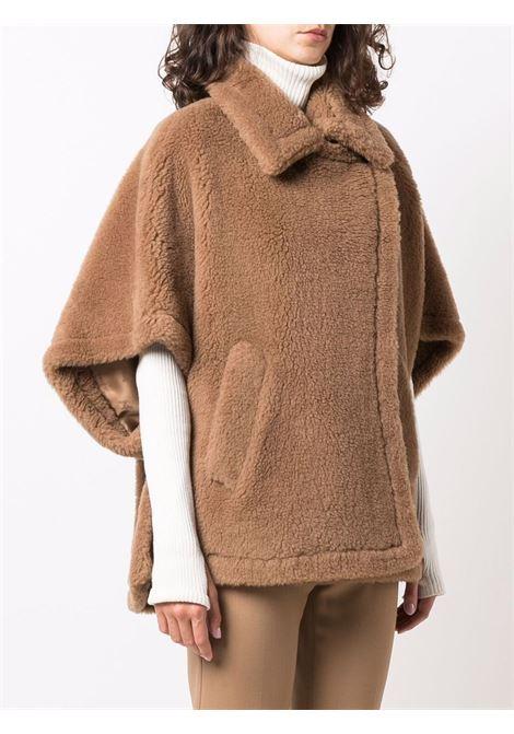 Camel brown tebe cape -women  MAXMARA | 47360413600001